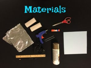 Toilet Paper Roll Snowflakes Materials List