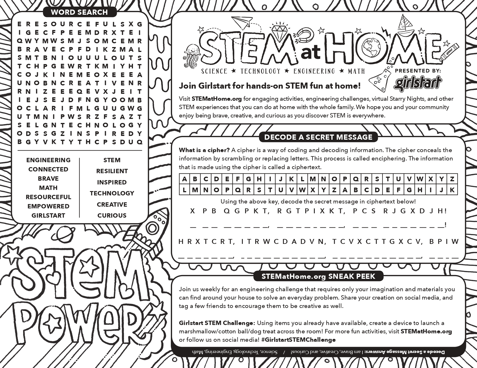 Coloring Pages Girlstart